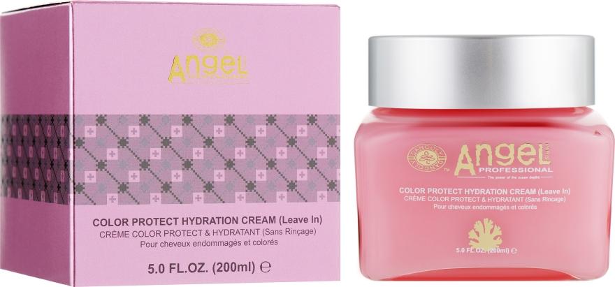 Увлажняющий крем для окрашенных волос - Angel Professional Paris Color Protect Cream