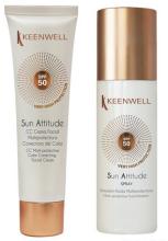 Духи, Парфюмерия, косметика Набор - Keenwell Sun Facial CC Cream SPF 50 & Fluid Emulsion SPF 30 (cc/cr/60ml + emulsion/150ml)