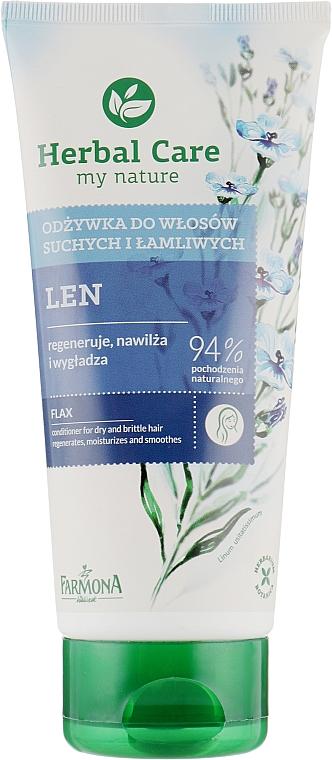 """Кондиционер для сухих и ломких волос """"Льняной"""" - Farmona Herbal Care Conditioner"""