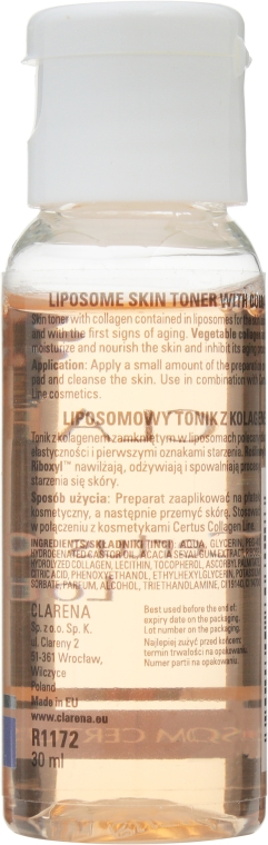 Дорожный мини-набор - Clarena Liposome Certus Collagen Mini Set (lot/30ml + cr/15ml) — фото N4
