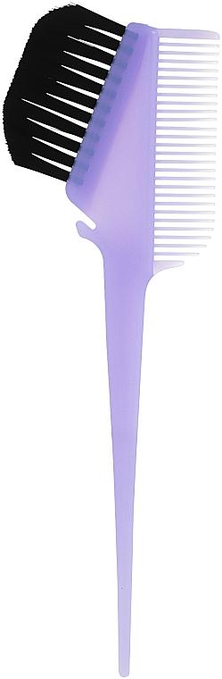 Кисточка для окрашивания волос с расческой, сиреневая - Comair