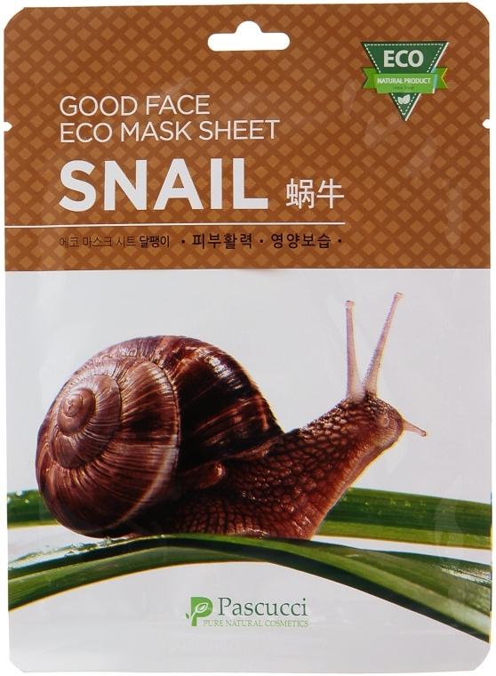 Маска для лица с улиточным муцином - Amicell Pascucci Good Face Eco Mask Sheet Snail