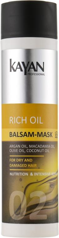 Бальзам-маска для сухих и поврежденных волос - Kayan Professional Rich Oil Balsam-Mask