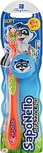 Духи, Парфюмерия, косметика Детская зубная щетка, мягкая 6+, неоново-оранжевая - SapoNello