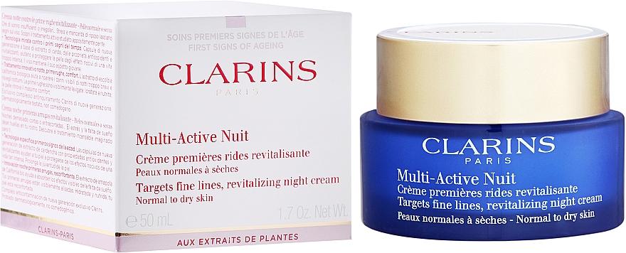 Ночной крем для лица против первых признаков старения - Clarins Multi-Active Night Cream Normal to Dry Skin