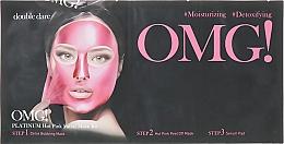 "Духи, Парфюмерия, косметика Комплекс масок трехкомпонентный ""Сияние и ровный тон"" - Double Dare OMG! Platinum Hot Pink Facial Mask Kit"