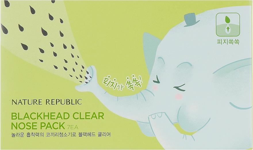Полоски для носа - Nature Republic Blackhead Clear Nose Pack