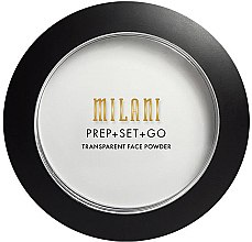 Духи, Парфюмерия, косметика Прозрачная пудра-праймер для лица - Milani Prep+Set+Go Transparent Face Powder