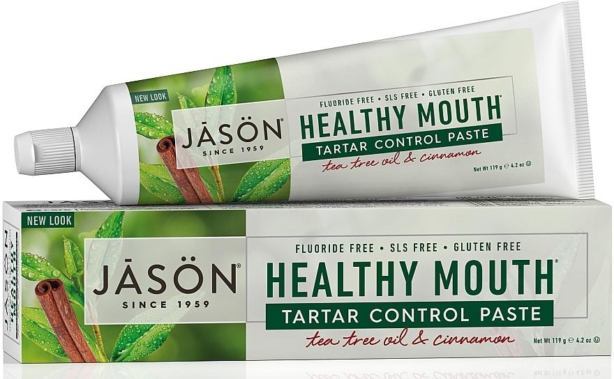 "Зубная паста ""Контроль за зубным камнем"" - Jason Natural Cosmetics Healthy Mouth Tartar Control Toothpaste"
