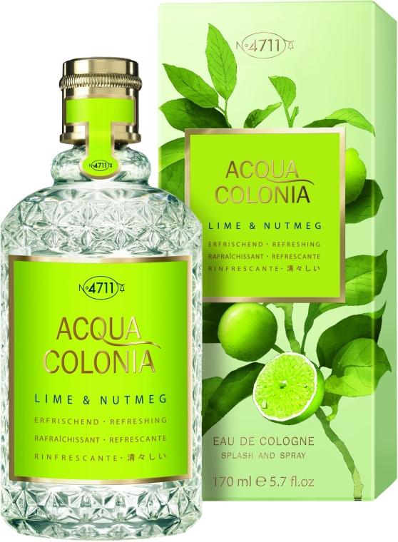 Maurer & Wirtz 4711 Aqua Colognia Lime & Nutmeg - Одеколон