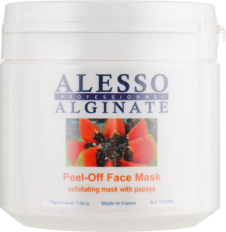 Маска для лица альгинатная глубоко очищающая и отшелушивающая с папайей - Alesso Professionnel Alginate Exfoliating Peel-Off Face Mask With Papaya