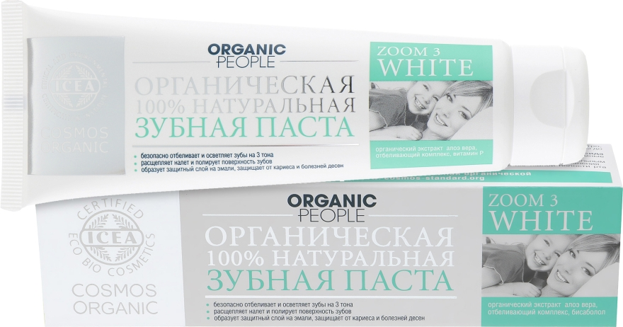 "Зубная паста ""Zoom 3 white"" - Organic People"