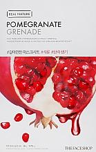 Духи, Парфюмерия, косметика Маска-салфетка для лица c гранатовым экстрактом - The Face Shop Real Nature Mask Sheet Pomegranate