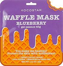 """Духи, Парфюмерия, косметика Противовоспалительная вафельная маска """"Черничный фреш"""" - Kocostar Blueberry Waffle Mask"""
