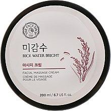 Духи, Парфюмерия, косметика Массажный крем для лица с экстрактом риса - The Face Shop Rice Water Bright Massage Cream