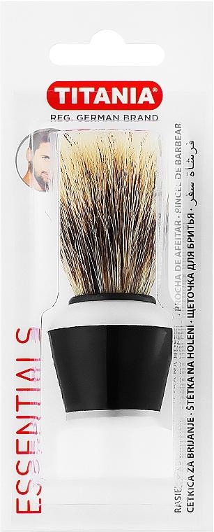 Помазок для бритья, цвет бело-черный - Titania