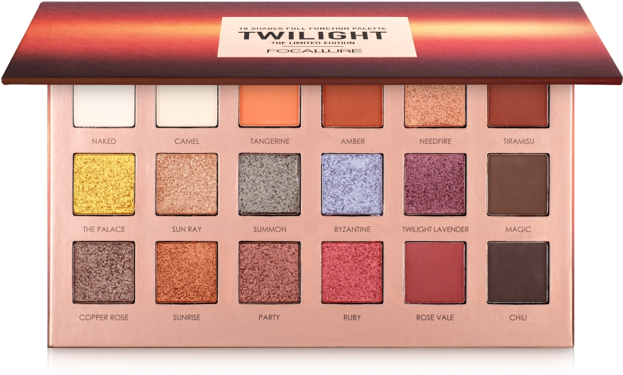 Палетка теней для век, 18 оттенков - Focallure Twilight Eyeshadow Palette The Limited Edition