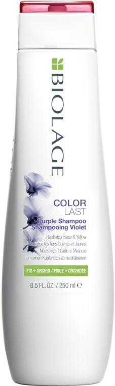 Шампунь для нейтрализации желтых и медных оттенков - Biolage ColorLast Purple Shampoo
