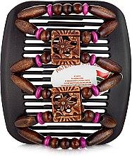 Духи, Парфюмерия, косметика Заколка для волос Dupla 009, на коричневом гребне - African Butterfly Hair Clip