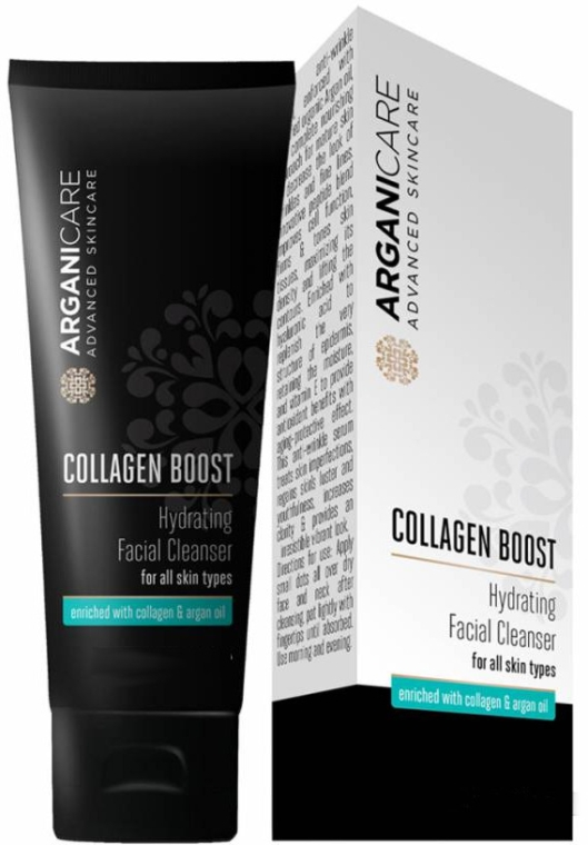 Средство для умывания - Arganicare Collagen Boost Hydrating Facial Cleanser
