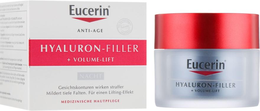Ночной крем для восстановления контура лица - Eucerin Hyaluron Filler Volume Lift Night Cream
