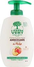 """Духи, Парфюмерия, косметика Крем-мыло для рук """"Персик"""" - L'Arbre Vert Hand Wash Peach Bio (с дозатором)"""