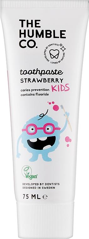 "Натуральная зубная паста ""Детская со вкусом клубники"" - The Humble Co. Natural Toothpaste Kids Strawberry Flavor"