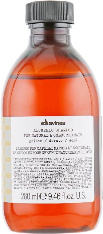 Шампунь для натуральных и окрашенных волос (золотой) - Davines Alchemic Shampoo