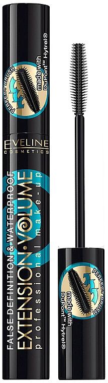 Водостойкая тушь для объема ресниц - Eveline Cosmetics 4D Extension Volume&Waterprof Mascara