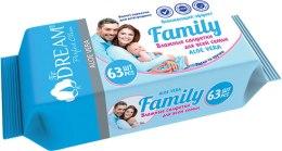 Духи, Парфюмерия, косметика Влажные салфетки для всей семьи, 63 шт - Air Dream Family Aloe Vera