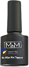 Духи, Парфюмерия, косметика Матовый топ для гель-лаков без липкого слоя - M-in-M No Wipe Matte Top Coat