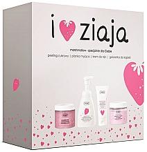 Духи, Парфюмерия, косметика Набор - Ziaja I Love Ziaja Marshmallow (b/peeling/300ml + h/cr/50ml + shower/gel/260ml + b/foam/250ml)