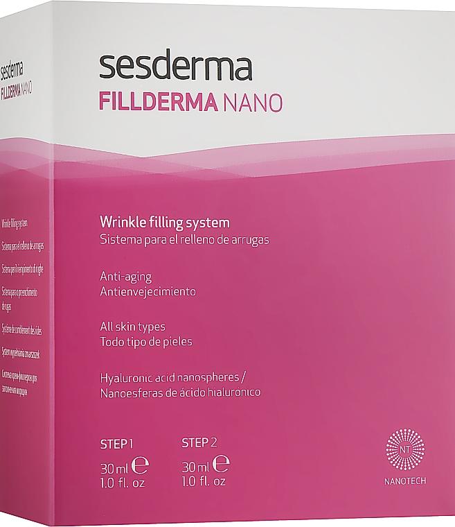 Двохшагова система заповнення зморшок без ін'єкцій - SesDerma Laboratories Fillderma nano Wrinkle Filling System — фото N1
