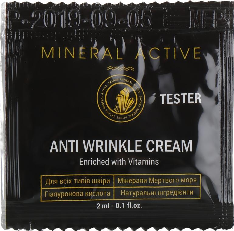 Крем против морщин - Satara Mineral Active Anti Wrinkle Cream (пробник)