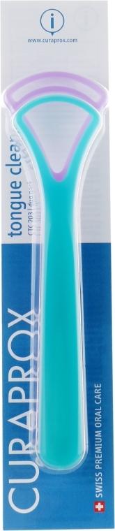 Набор скребков для языка, бирюзовый + фиолетовый - Curaprox Tongue Cleaner