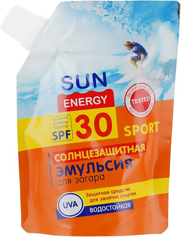 Солнцезащитная эмульсия для загара - Sun Energy Sport SPF30