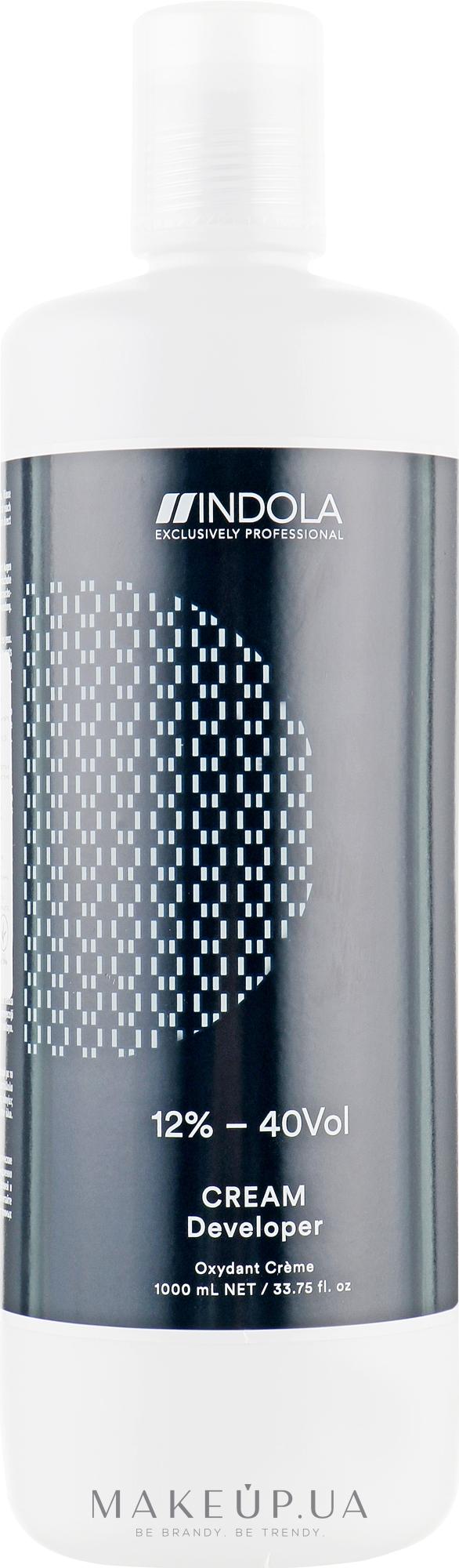 Крем-проявник 12% - 40 vol - Indola Profession Cream Developer 12% - 40 vol — фото 1000ml