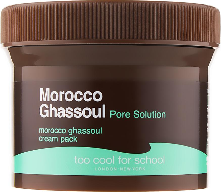 Маска-крем для лица - Too Cool For School Morocco Ghassoul Cream Pack