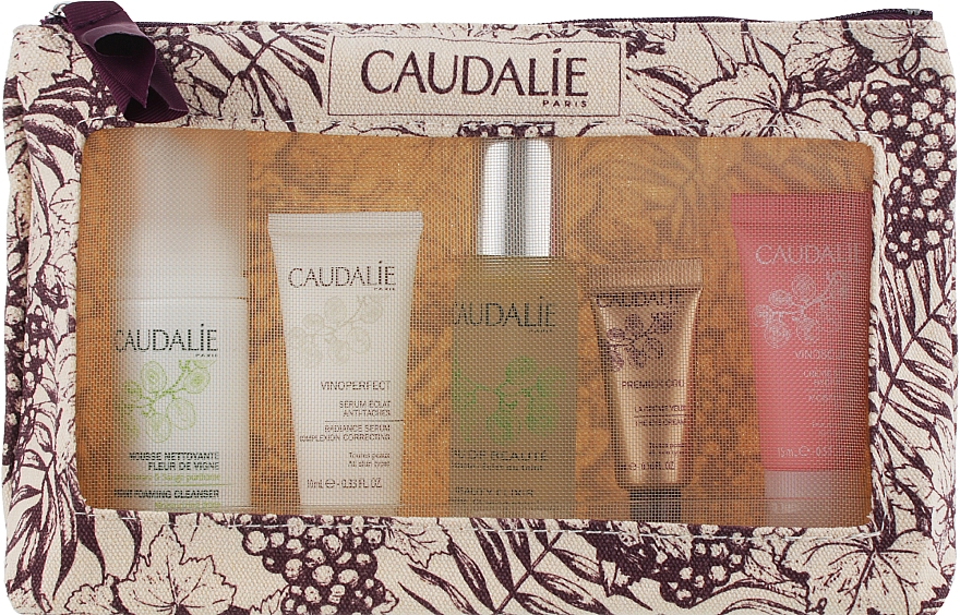 Набор - Caudalie(f/mousse/50ml+f/water/30ml+f/ser/10ml+f/cr/10ml+eye/cr/5ml)
