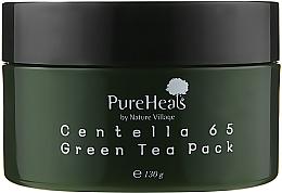 Духи, Парфюмерия, косметика Восстанавливающая маска с экстрактом центеллы и зеленым чаем - PureHeal's Centella 65 Green Tea Pack