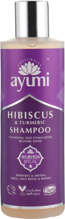 Шампунь с гибискусом и куркумой - Ayumi Hibiscus & Turmeric Shampoo