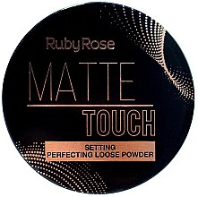 Духи, Парфюмерия, косметика Рассыпчатая пудра для лица - Ruby Rose Matte Touch Setting Perfectiing Loose Powder