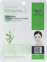 Духи, Парфюмерия, косметика Маска с коллагеном и экстрактом бамбука - Dermal Bamboo Collagen Essence Mask