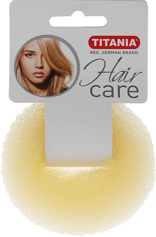 Зажим для волос объемный, бежевый, 8см - Titania