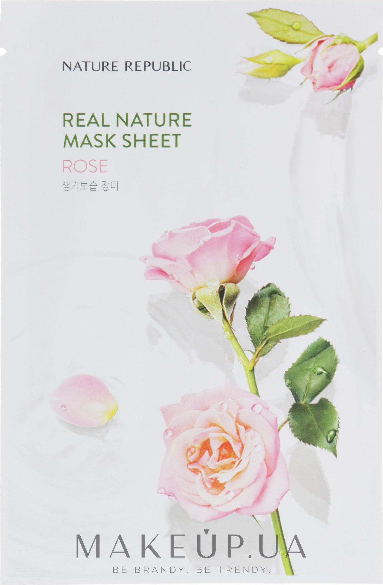 Тканевая маска для лица с экстрактом розы - Nature Republic Real Nature Mask Sheet Rose — фото 23g