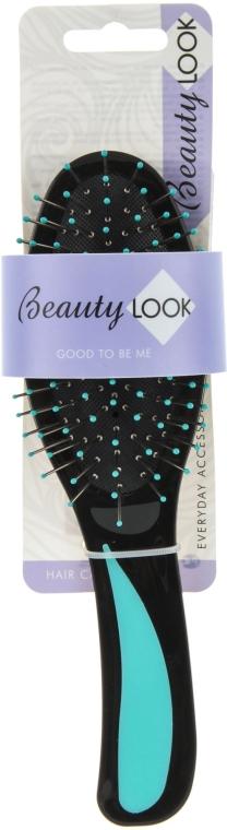 Расческа для волос массажная, 485814, бирюзовая - Beauty Look