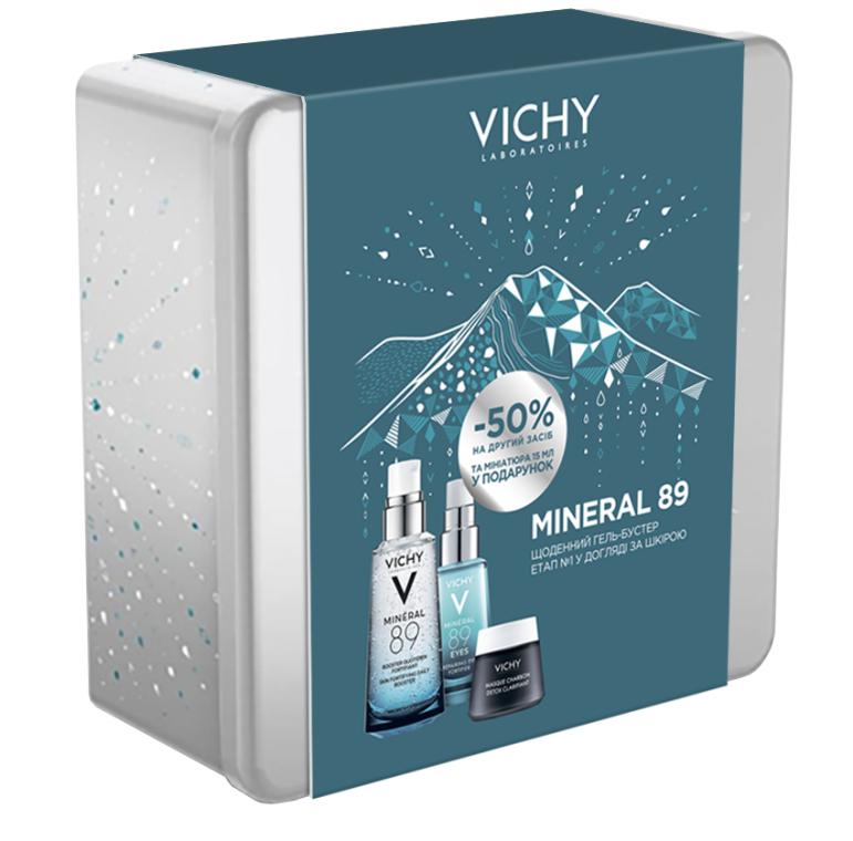 Набор - Vichy Mineral 89 (gel/50ml + gel/15ml + mask/15ml)