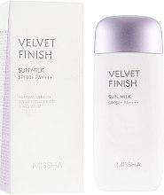 Духи, Парфюмерия, косметика Солнцезащитное молочко для лица - Missha Velvet Finish Sun Milk SPF50+/PA++++