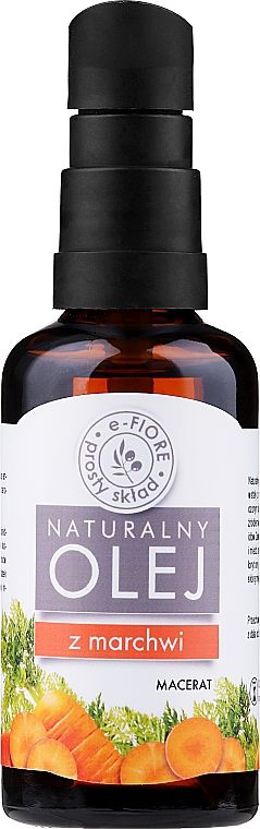 "Морковное масло ""Естественный автозагар"" - E-Fiore Carrot Macerate Natural Oil (с помпой)"