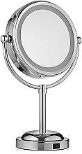 Духи, Парфюмерия, косметика Двойное зеркало для макияжа с подсветкой и 3-х кратным увеличением - Mindo